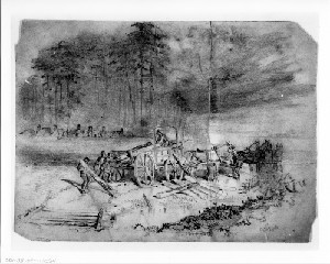 A Scene on Our Left: Preparing for Winter (Siege of Petersburg)