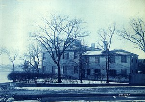 """Corcoran"" house from Neponset Street, looking toward Cutter's coal yard on South Street"