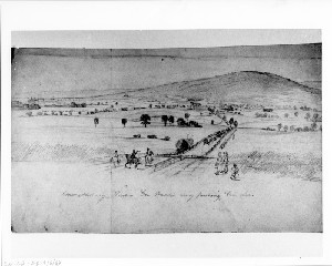Emmettsburg, Maryland - General Meade's Army pursuing General Lee