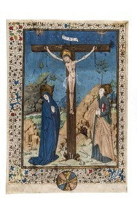Illumination of the Crucifixion from a Missal : use of Troyes