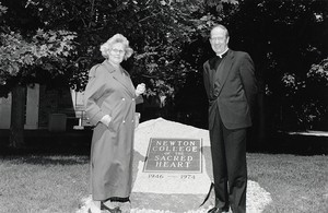 Rededication of a plaque for Newton College of the Sacred Heart, Helen Sweeney Doyle NC '50 & Fr. Monan