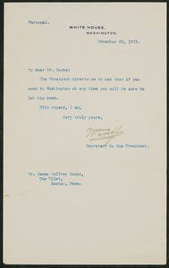 Letter, November 28, 1903, Theodore Roosevelt to James Jeffrey Roche