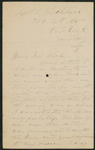Letter, John Connor to James Jeffrey Roche