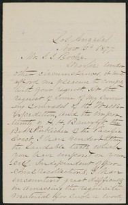 Letter, November 3, 1877, E. G. C. Kerven to James Jeffrey Roche