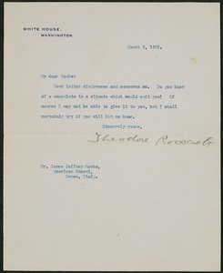 Letter, March 3, 1905, Theodore Roosevelt to James Jeffrey Roche