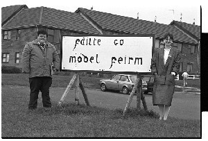 Sinn Fein workers at Downpatrick's Model Farm Estate