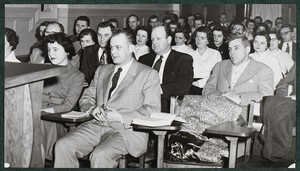 View of students in classroom at Boston Evening College