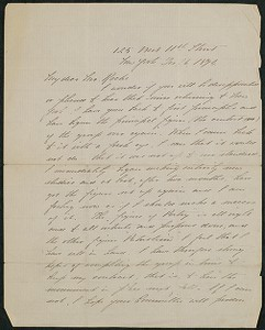 Letter, December 16, 1894, Daniel Chester French to James Jeffrey Roche