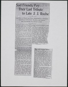 James Jeffrey Roche newspaper clipping, Post, undated