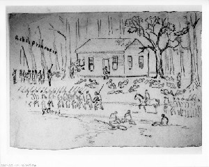 Dead and Wounded at Poplar Springs Church (Battle of Peeble's Farm)