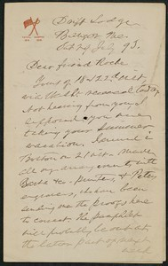 Letter, July 29, 1895, Capt. Sam C. Reid to James Jeffrey Roche