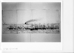 Bombardment of Fort Fisher, near Wilmington, N.C