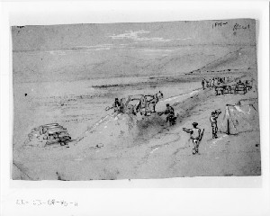 Workmen Digging the Railroad Bed