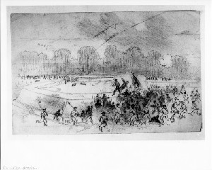 Charge of the Fifth Corps (Battle of Poplar Springs Church - Peeble's Farm)