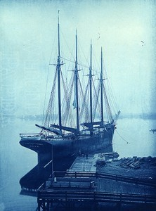 Schooner Lambert, just unloaded; capacity 2500 tons coal