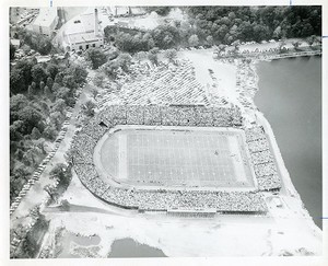 Alumni Stadium: dedication aerial view