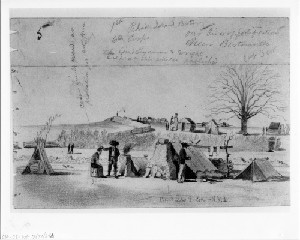 Our Line of Fortifications near Bartonsville, Virginia