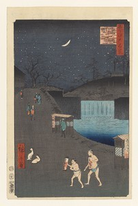 Aoi Slope, Outside Toranomon Gate from the series One Hundred Famous Views of Edo, woodblock print, ink and color on paper