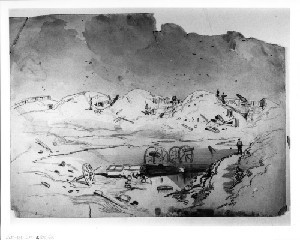 View of the Interior of Fort Fisher after the Bombing (Capture of Wilmington)