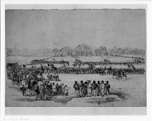 Siege of Petersburg - Military Execution of a Deserter near Peebles House, Virginia