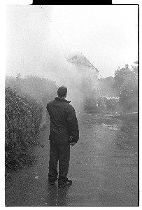 Downpatrick Folk Club after it was burnt down. This was a very popular folk club in the 1970s
