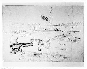 Battery at Eastern Extremity of Fort Beauregard, St. Phillips Island, S.C