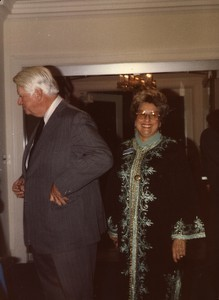 Unidentified woman with Thomas P. O'Neill