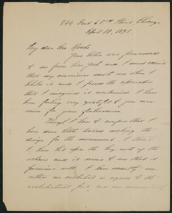 Letter, April 10, 1893, Daniel Chester French to James Jeffrey Roche