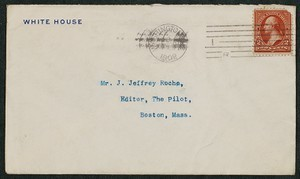 Envelope, April 2, 1902, Theodore Roosevelt to James Jeffrey Roche