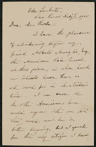 Letter, July 8, 1905, William Dean Howells to James Jeffrey Roche