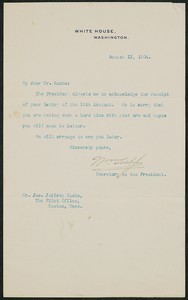 Letter, August 13, 1904, Theodore Roosevelt to James Jeffrey Roche