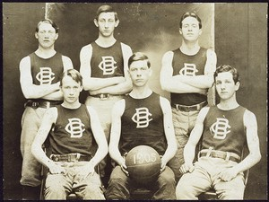 Photo of the first Boston College basketball team