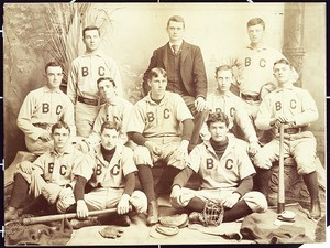Photo of an early Boston College baseball team