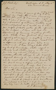 Letter, approximately 1880-1900, C. F. Henningsen to James Jeffrey Roche