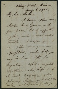 Letter, August 6, 1905, William Dean Howells to James Jeffrey Roche