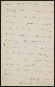 Letter, October 26, 1893, Theodore Roosevelt to James Jeffrey Roche