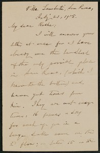 Letter, July 21, 1905, William Dean Howells to James Jeffrey Roche