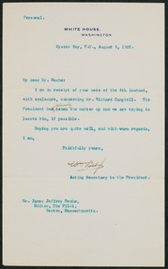 Letter, August 6, 1902,Theodore Roosevelt to James Jeffrey Roche