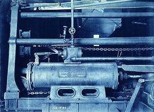 Detail of steam Coke-drawing Machine