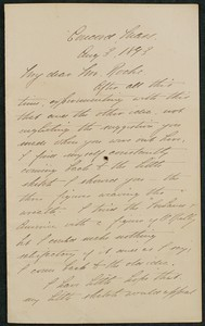 Letter, August 3, 1893, Daniel Chester French to James Jeffrey Roche