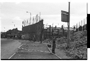 Andersonstown RUC/PSNI station, West Belfast. Advanced stages of demolition. Images taken in the years immediately following the change from RUC to PSNI.
