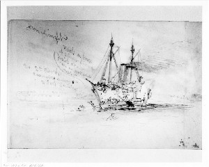 "Running Down of a Man o'war Launch from the Frigate Wabash by the Rebels from ""Alice"", an English Blocade Runner"