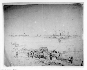Conveying Stores to the Beach near Fort Fisher (Capture of Wilmington)