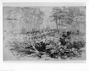 First Division, Fifth Corps Building Breastworks (Battle of Poplar Springs Church - Peeble's Farm
