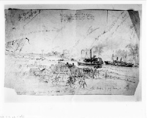 The War in Louisianna: General Weitzel's Expedition up the Bayou Teche to Destroy the Rebel Ironclad Gunboat P.A. Cotton