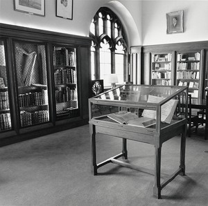 Irish Room in Burns Library with art on walls