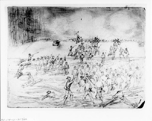 A Regiment of the Eighteenth Corps Carrying a Portion of Beauregard's Line in Front of Petersburg