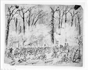 Battle of Pittsburgh Landing, Shiloh, Tennesee: Left Wing Near the Peach Orchard