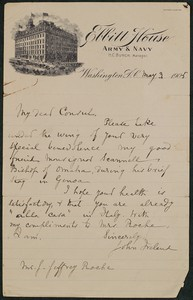 Letter, May 3, 1905, John Ireland to James Jeffrey Roche
