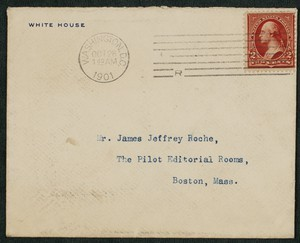 Envelope, February 26, 1902, Theodore Roosevelt to James Jeffrey Roche